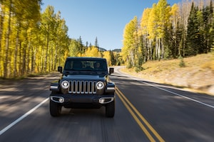 2018 Jeep Wrangler Sahara Front View In Motion 01