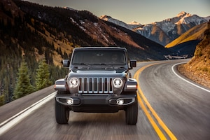 2018 Jeep Wrangler Sahara Front View In Motion 02