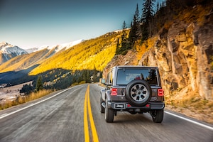 2018 Jeep Wrangler Sahara Rear View In Motion 02
