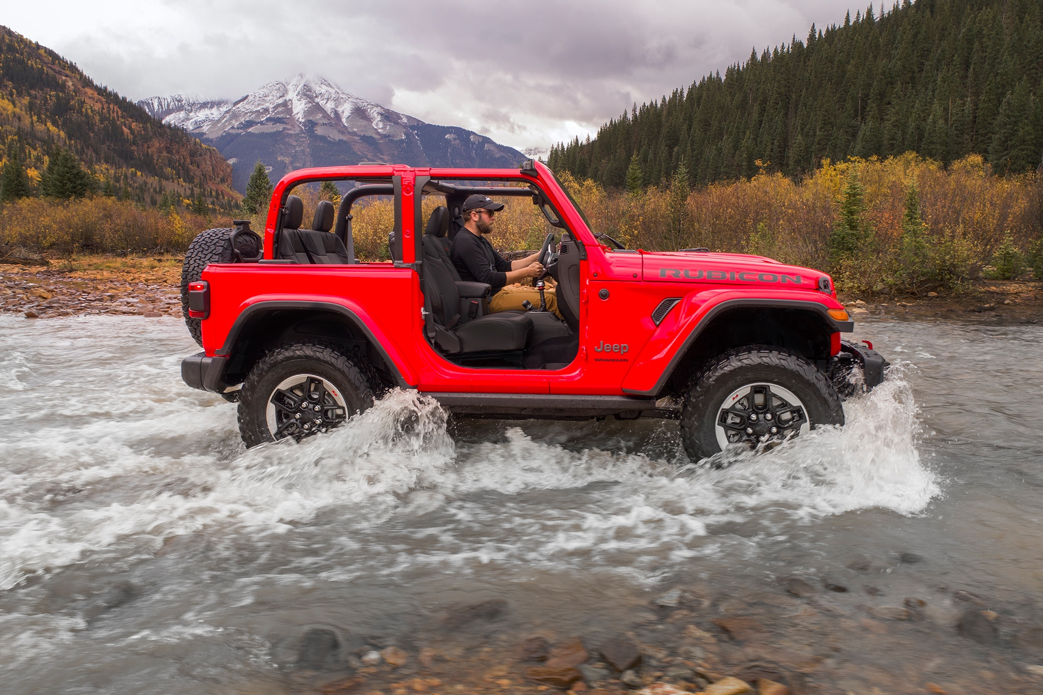 2018 Jeep Wrangler Side Profile In Motion 06