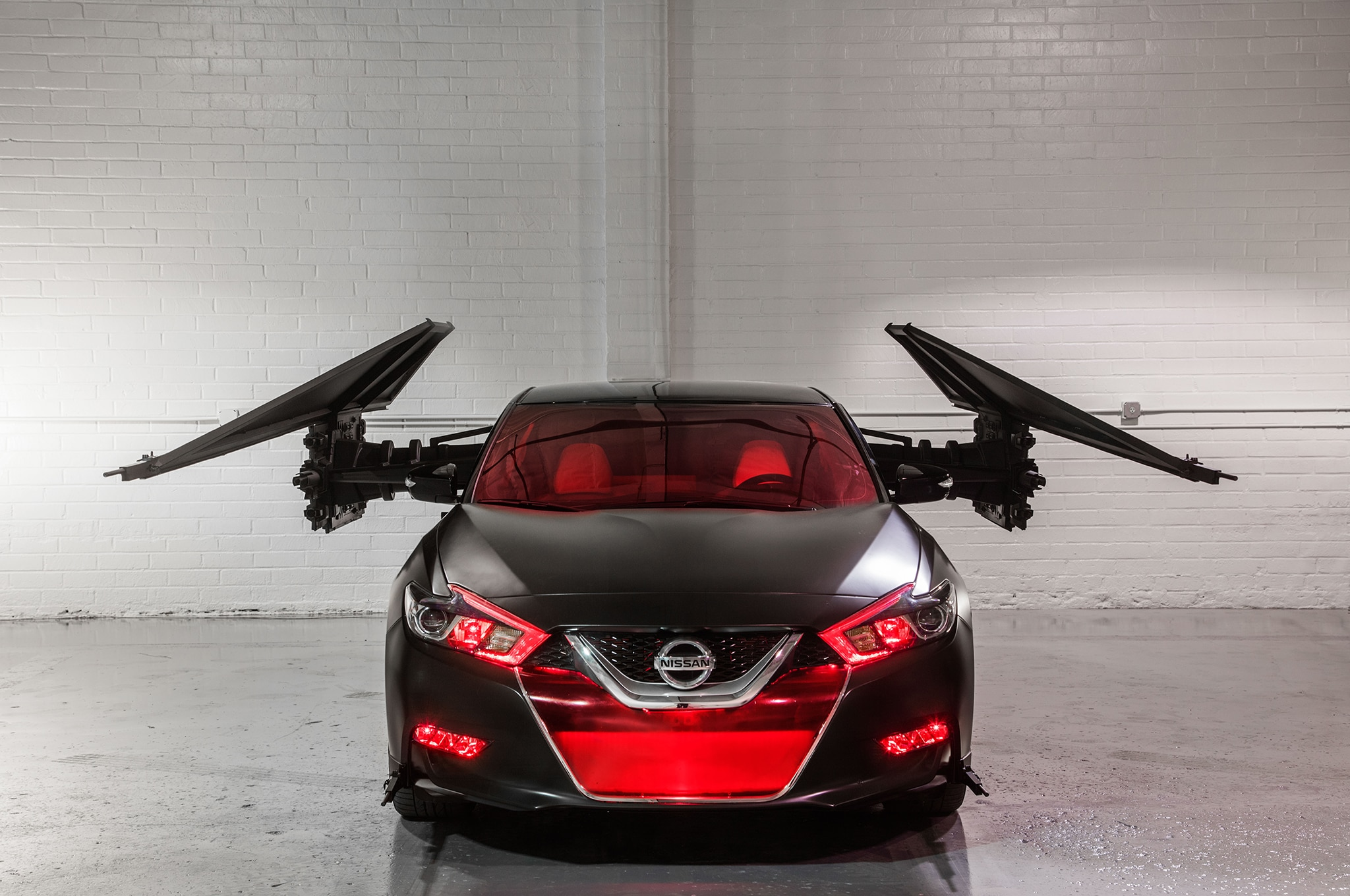 2018 Nissan Maxima Show Car Kylo Rens TIE Silencer Front