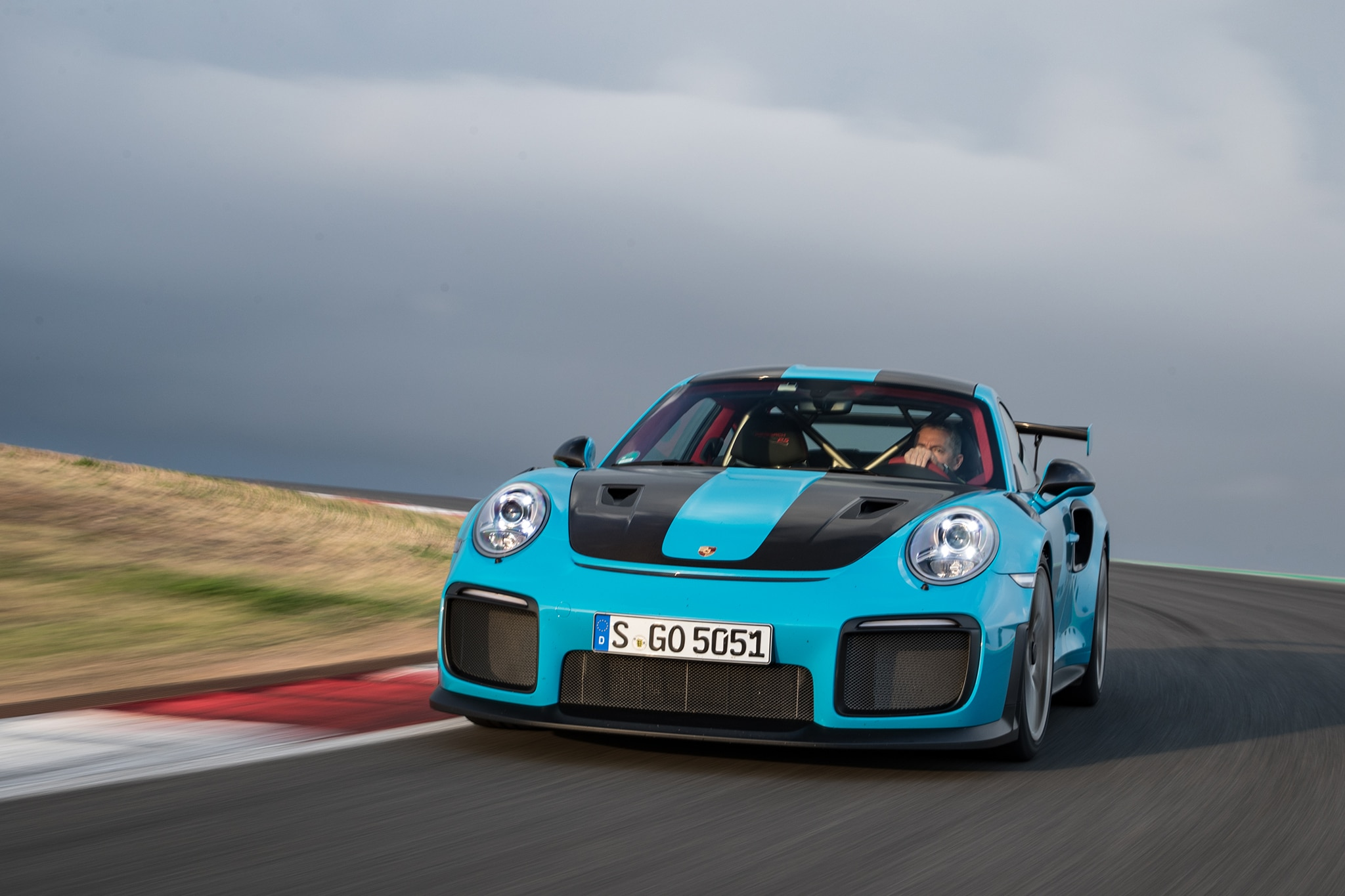 2018 Porsche 911 GT2 RS Front View In Motion 11