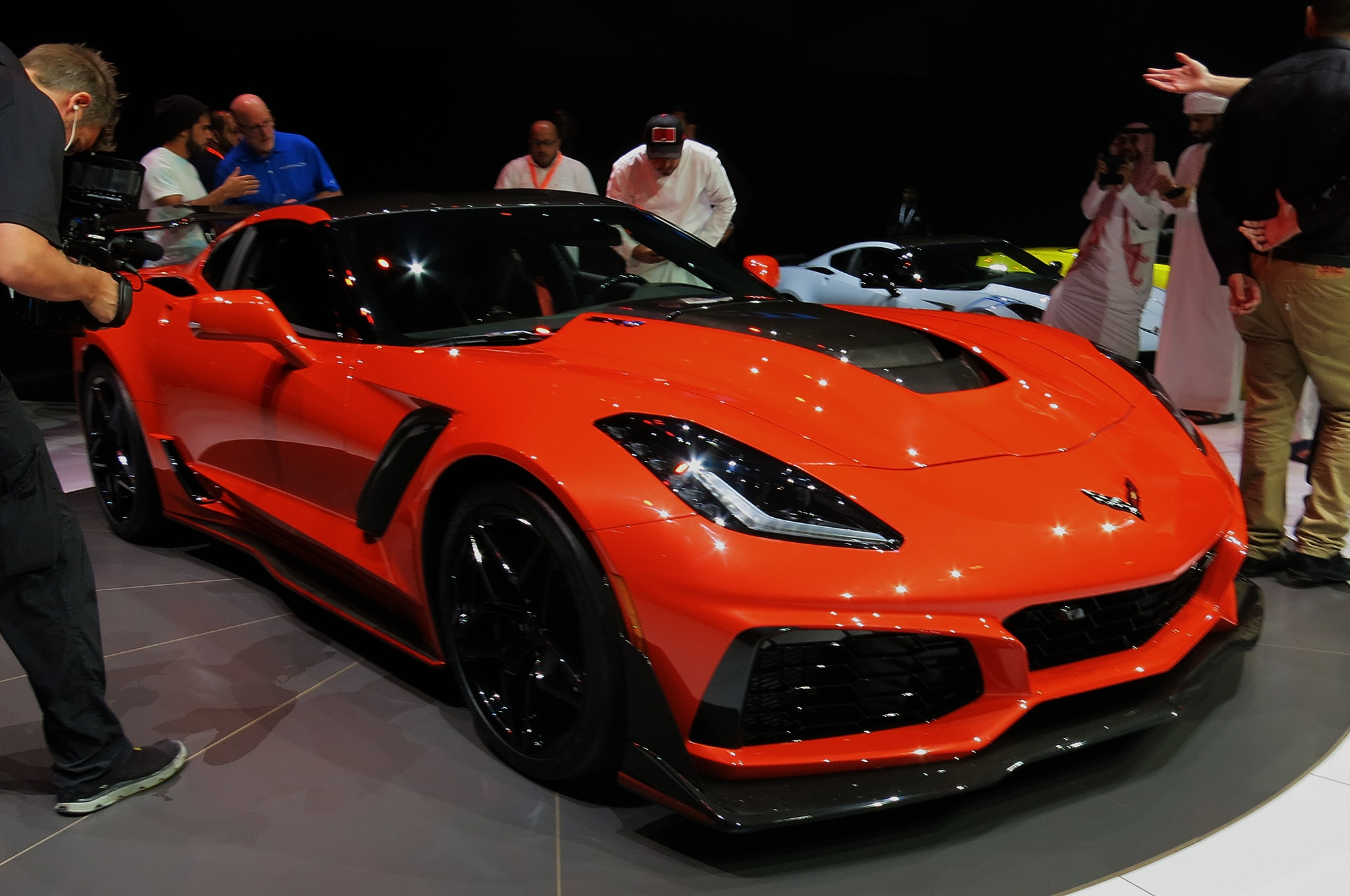 2019 Chevy Corvette ZR1 Live Reveal Front Three Quarter