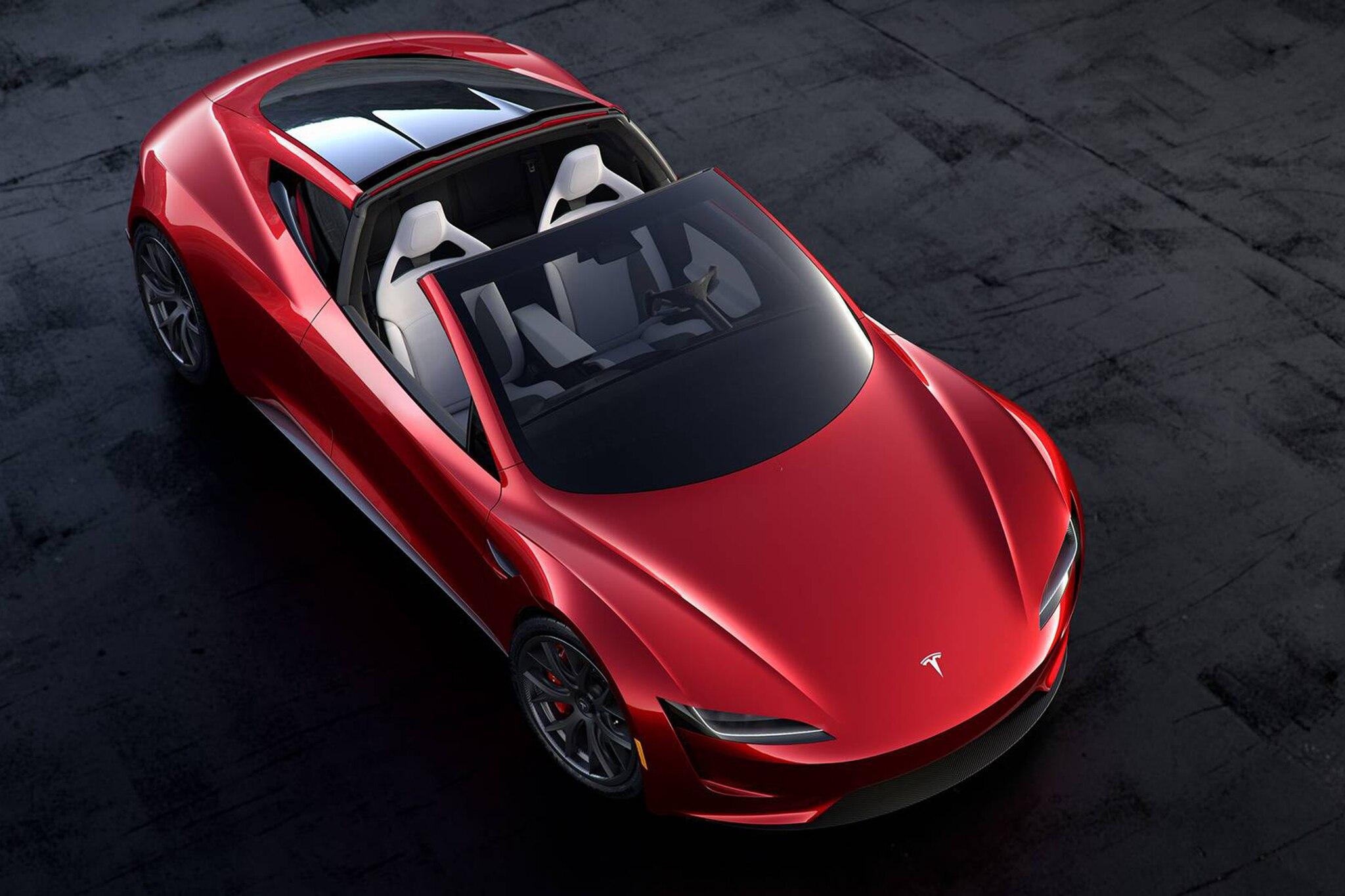 2020 Tesla Roadster Above