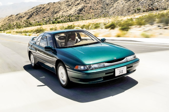 1996 Subaru SVX Front Three Quarter In Motion