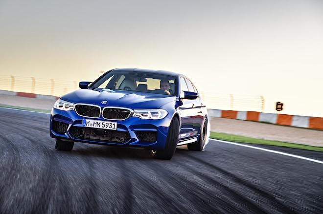 2018 BMW M5 Front Three Quarter In Motion 02