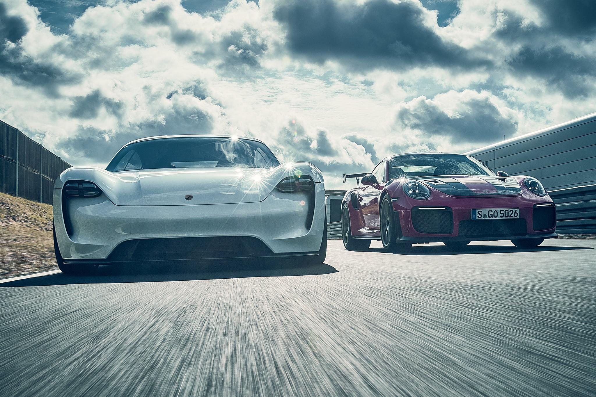 2018 Porsche 911 GT2 RS And 2020 Porsche Mission E 01