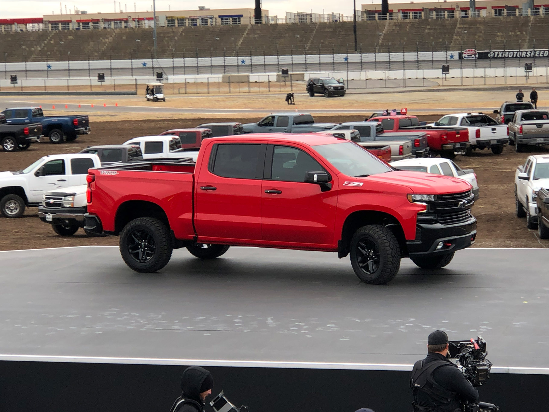 2019 Chevrolet Silverado Revealed Via Helicopter In Texas