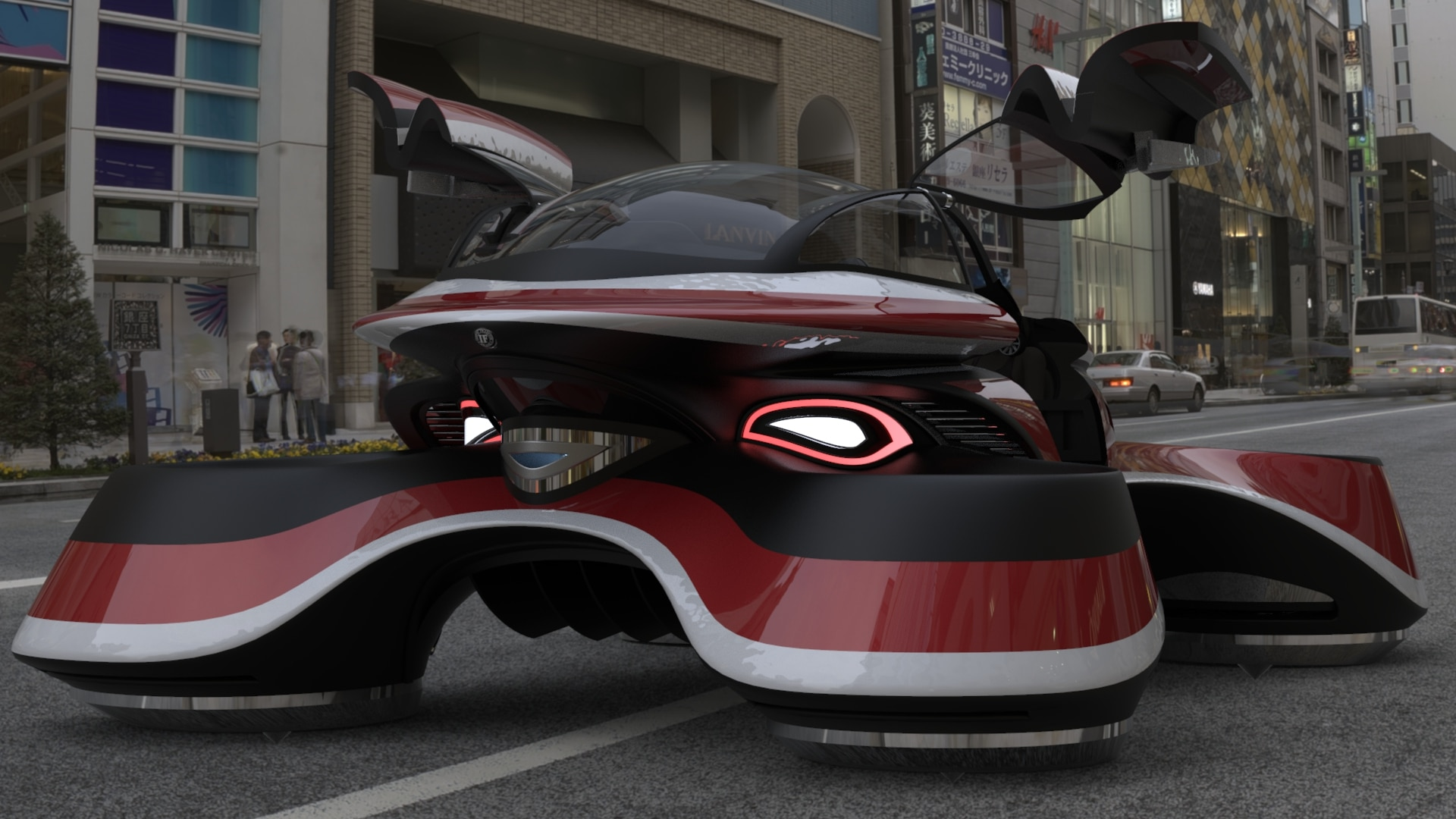 Lazzarini Design Creates A Retro Hover Car Concept