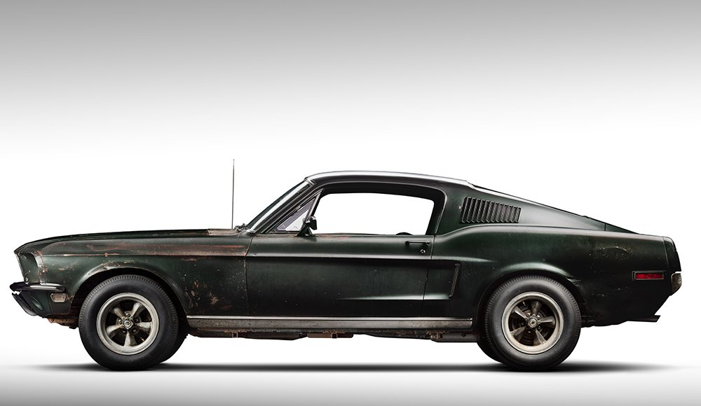 1968 ford mustang fastback from 39 bullitt 39 is the rusty star of the detroit auto show. Black Bedroom Furniture Sets. Home Design Ideas