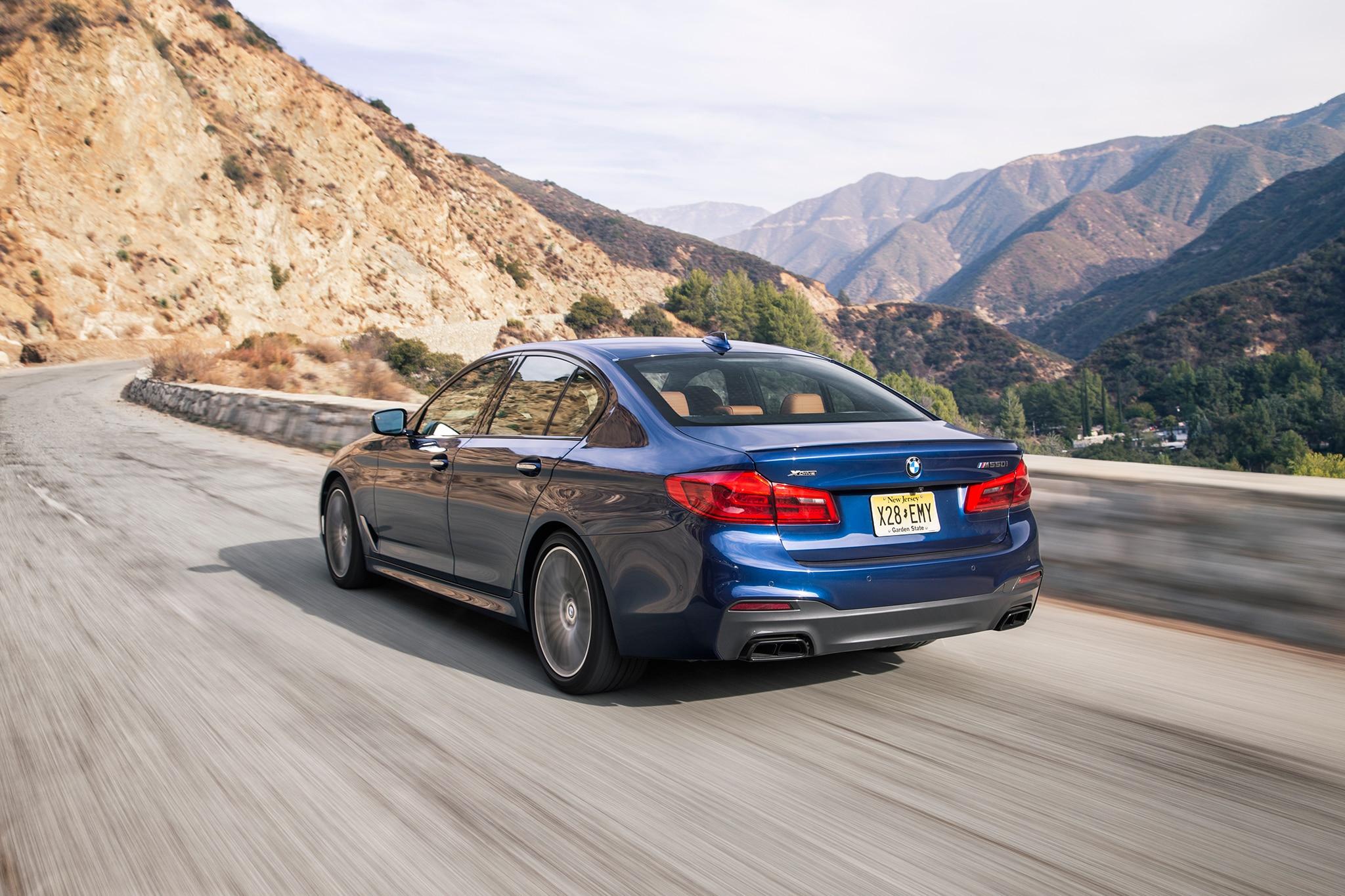 2018 BMW M550i Rear Three Quarter In Motion