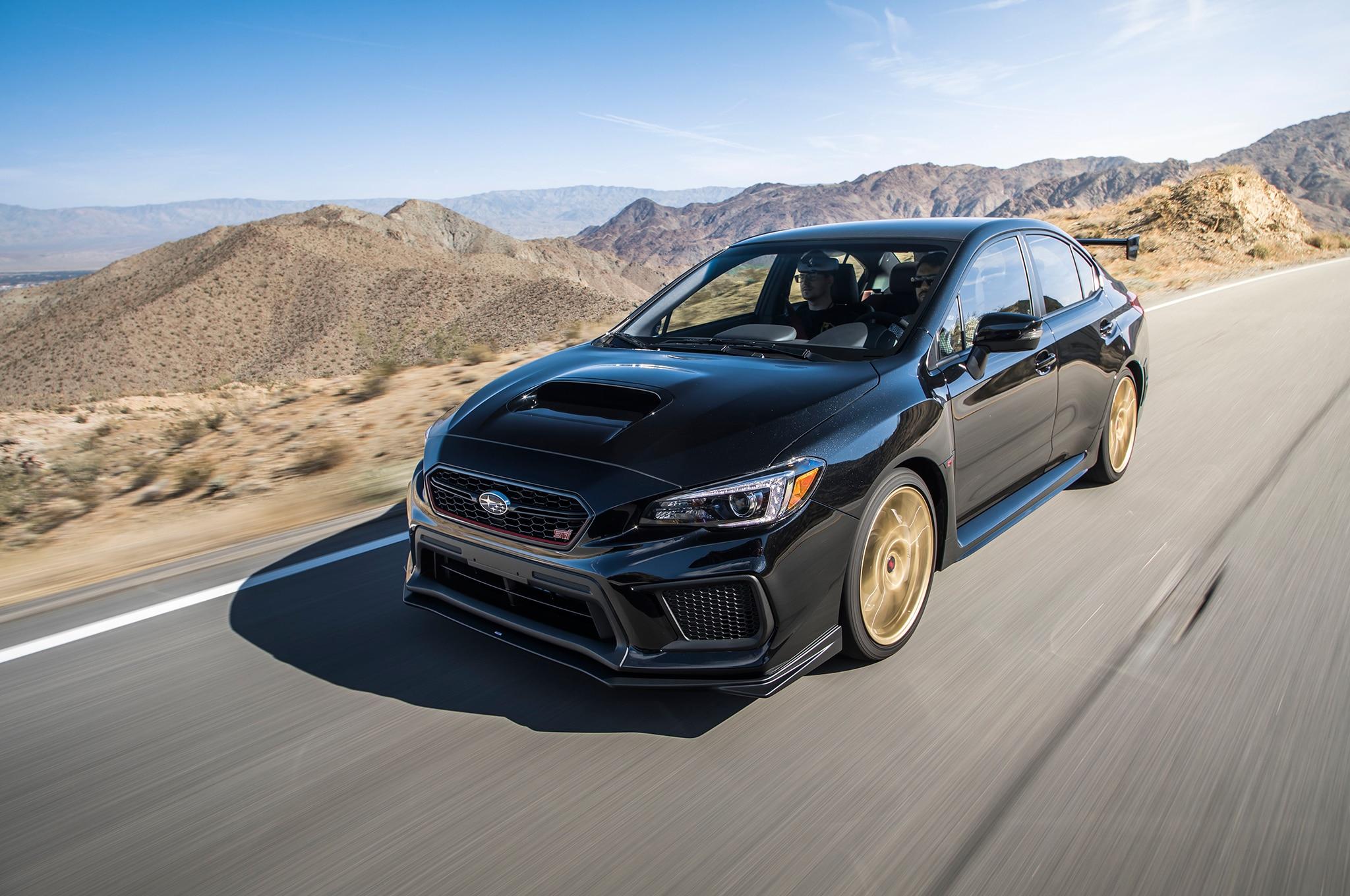 2018 Subaru WRX STI Type RA Front Three Quarter In Motion 44