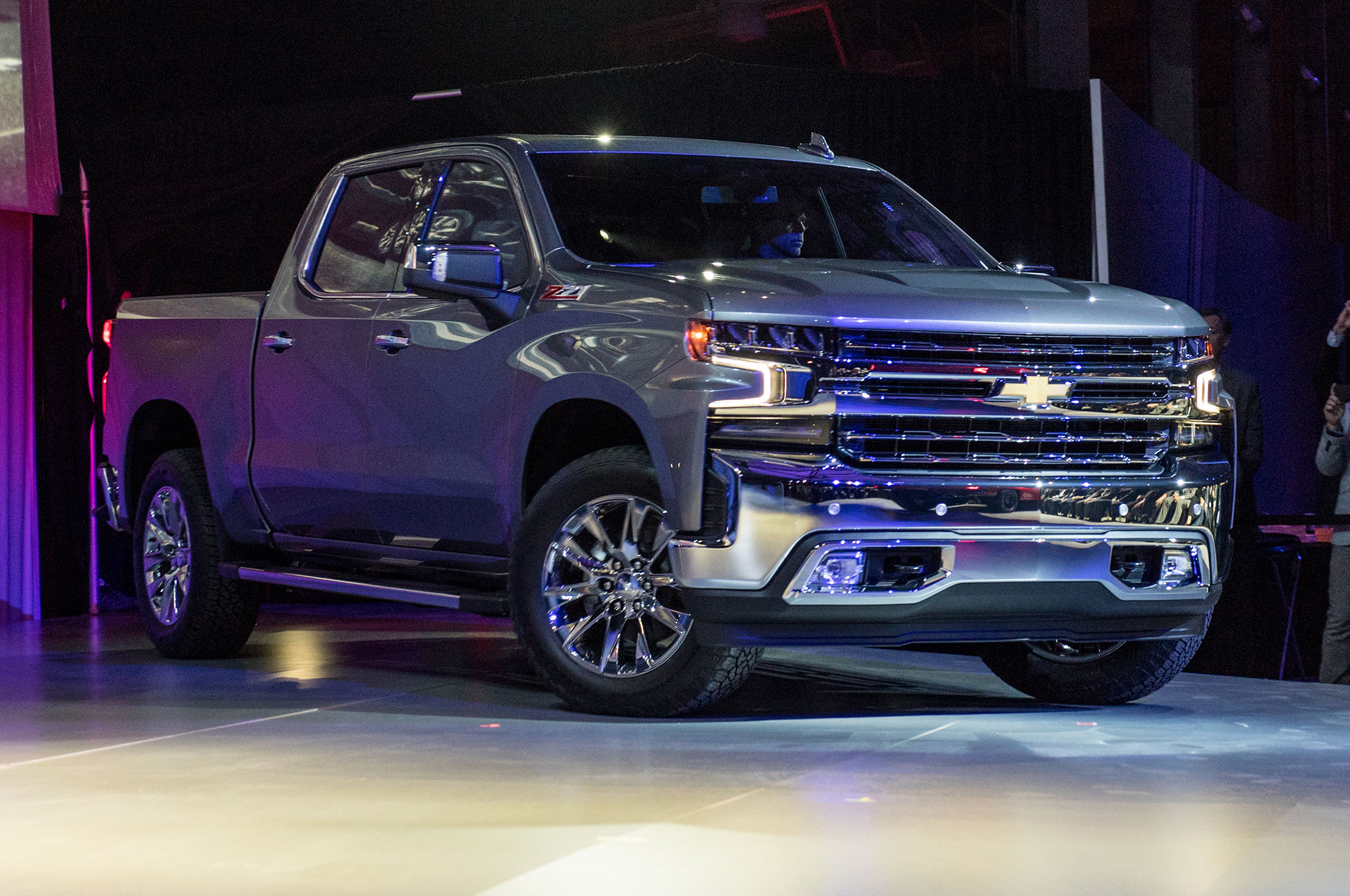 2019 Chevrolet Silverado 1500 LTZ Front Side View On Stage