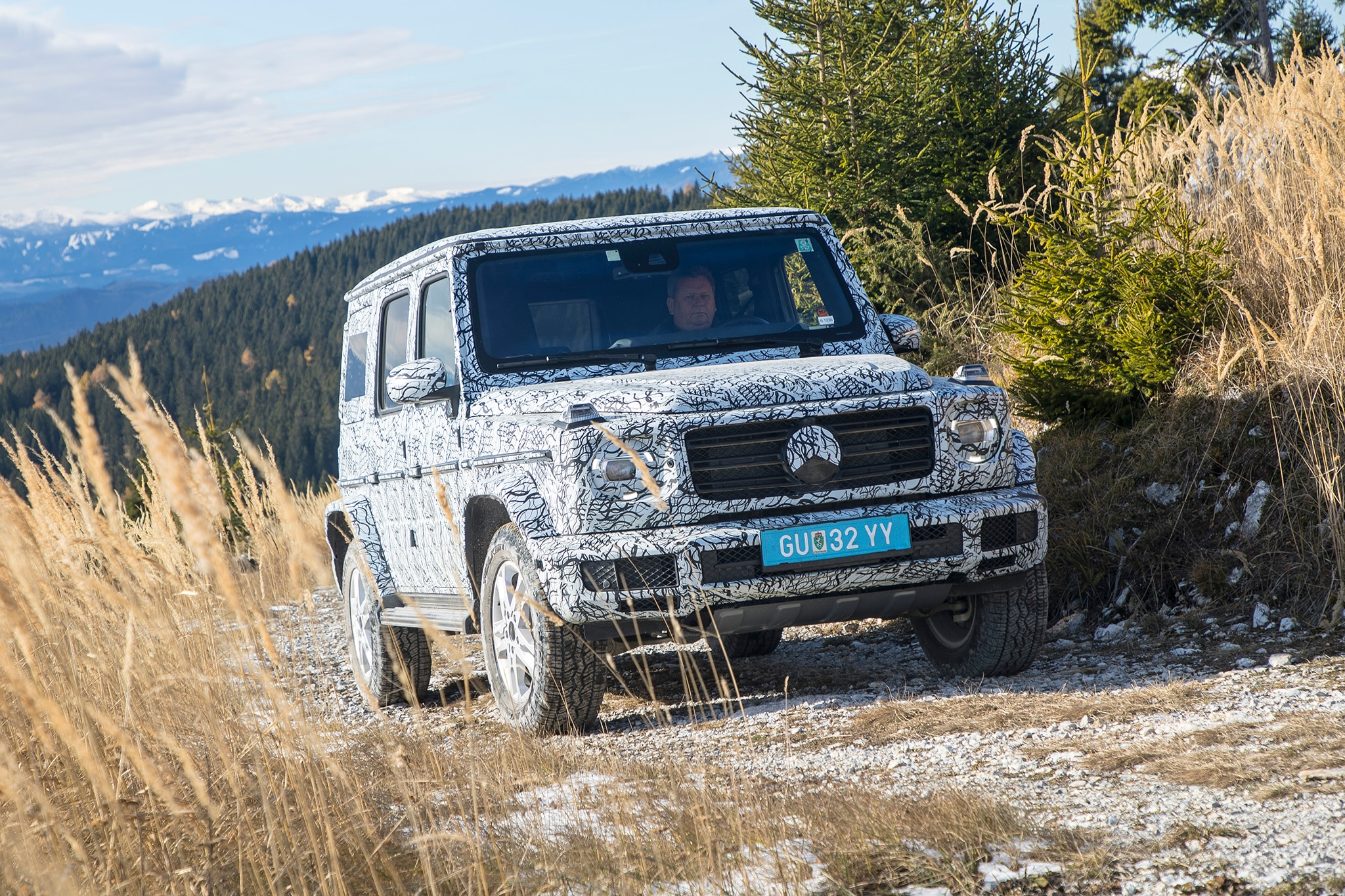 2019 Mercedes Benz G Class Prototype Front Three Quarters In Motion