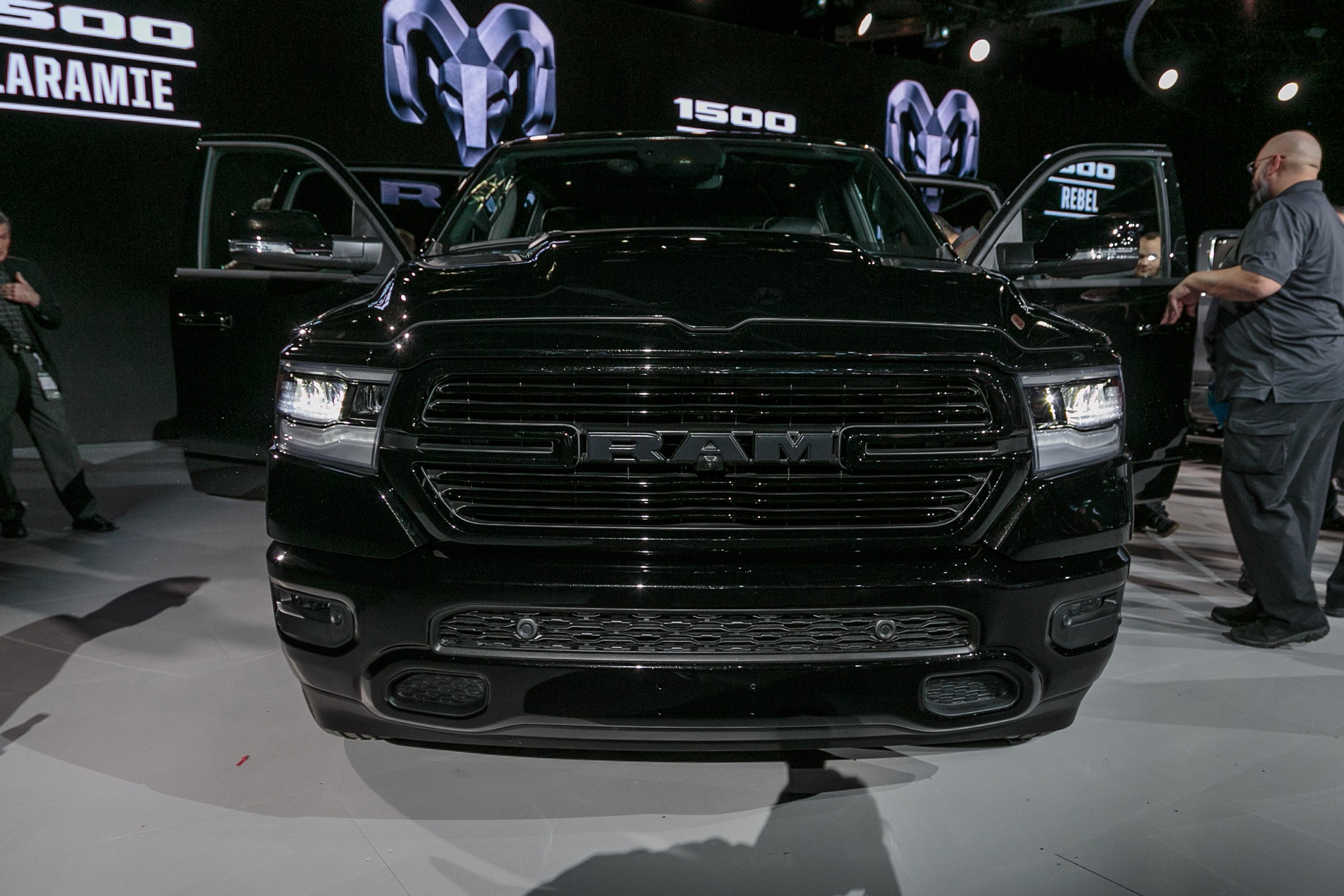 Image result for 2019 ram 1500 black sport grille