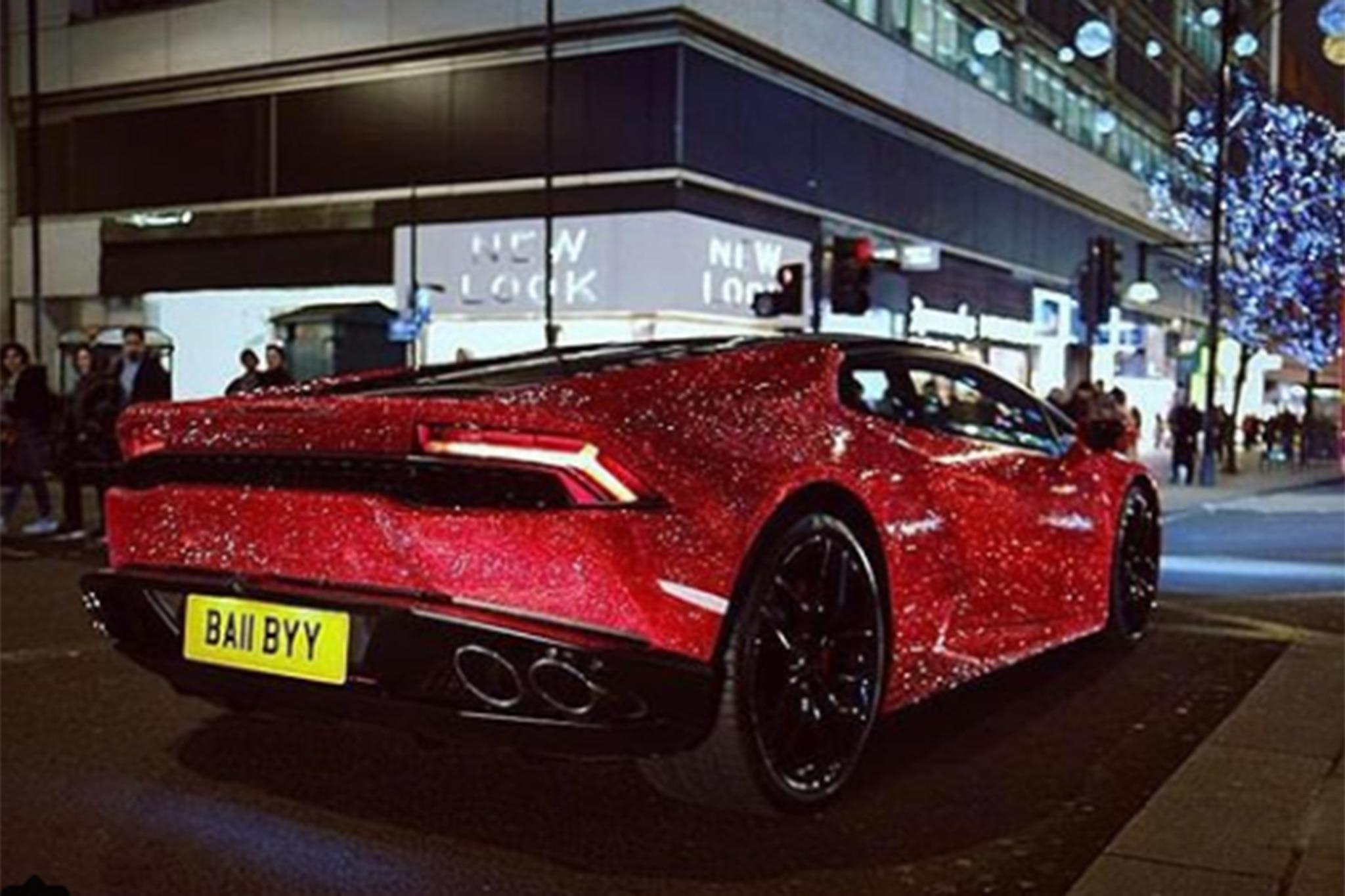 Crystal Encrusted Lamborghini Hurac 225 N Spotted On London Streets Automobile Magazine