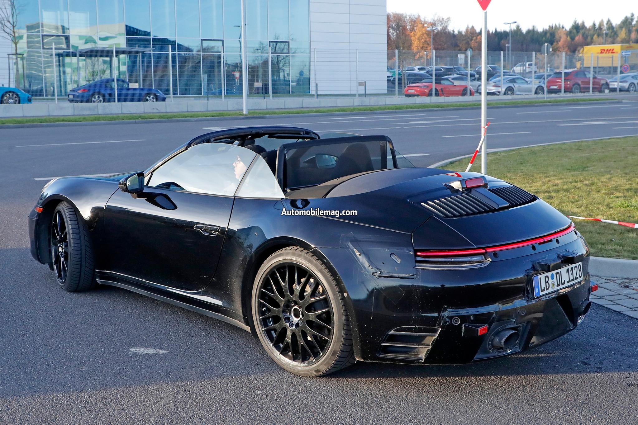 Next Gen Porsche 911 Cabriolet Spied With Bulbous Rear Automobile