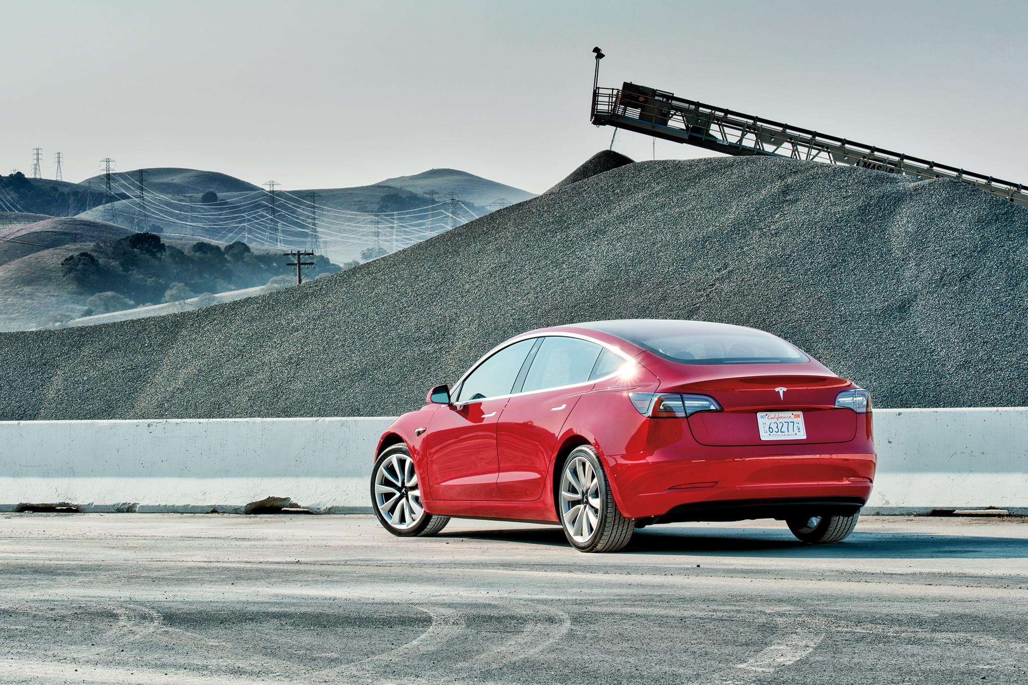 Tesla Model 3 Rear Three Quarter