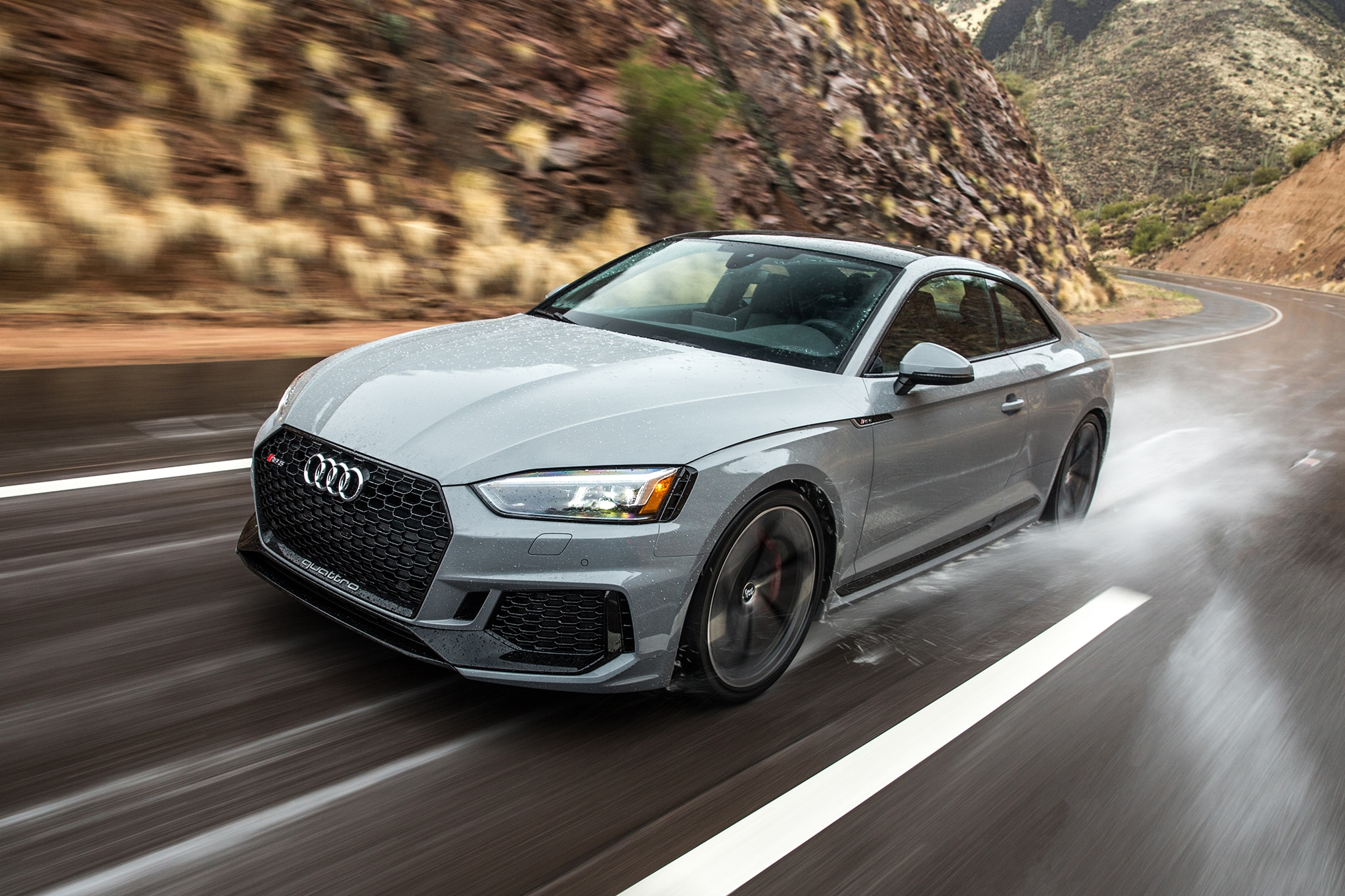 2018 Audi RS 5 Coupe Front Three Quarter In Motion 02