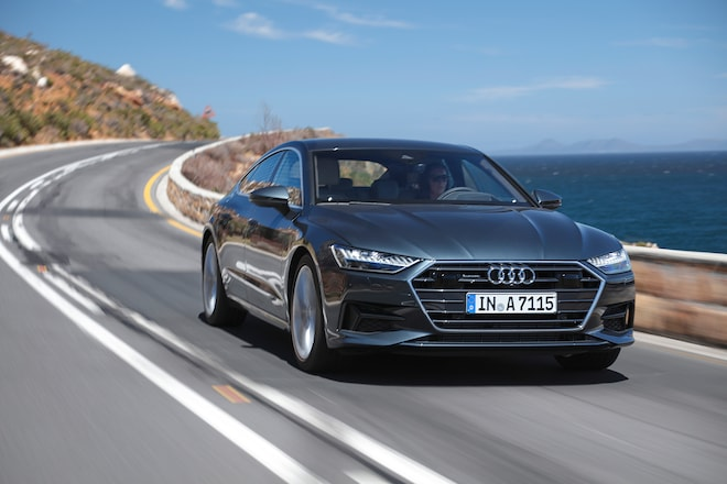 2019 Audi A7 Front Three Quarter In Motion 31