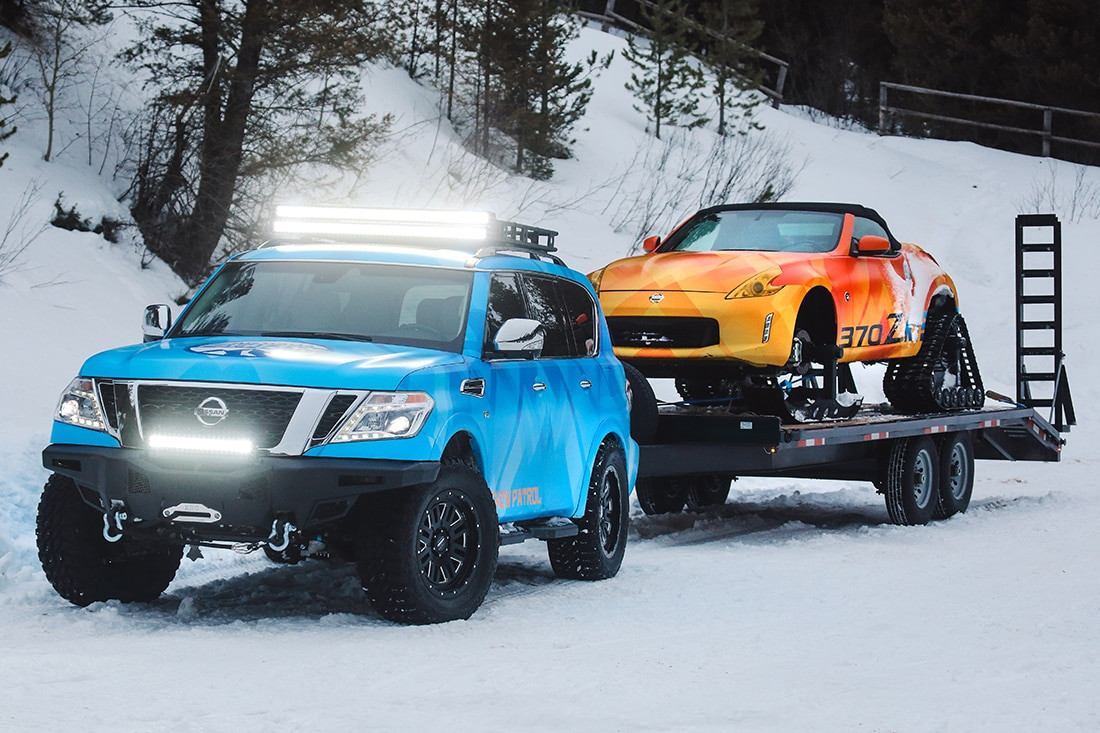 Nissan Unveils 370zki And Armada Snow Patrol Concepts At