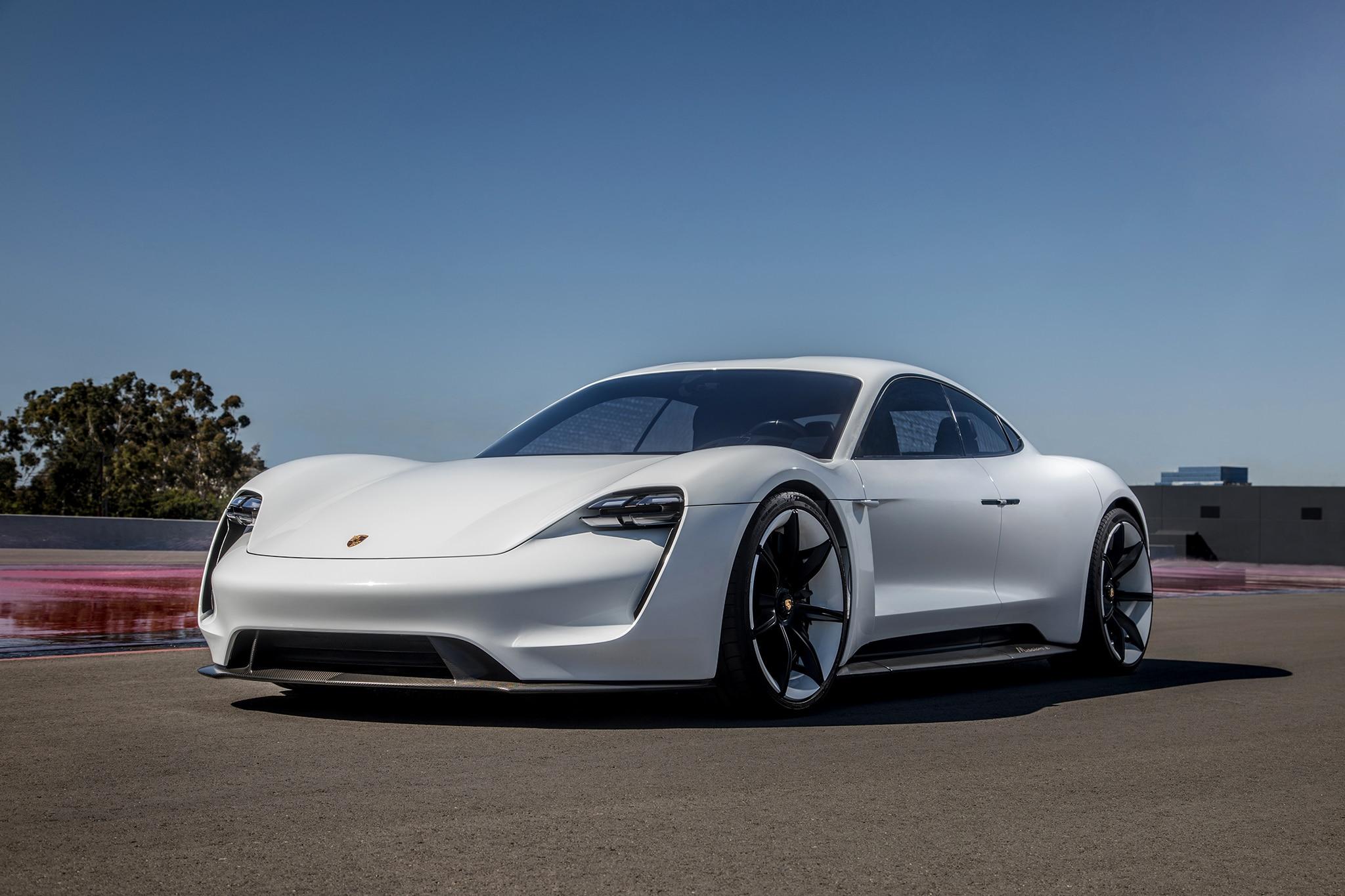 Porsche Mission E 2018 Front Three Quarters 2