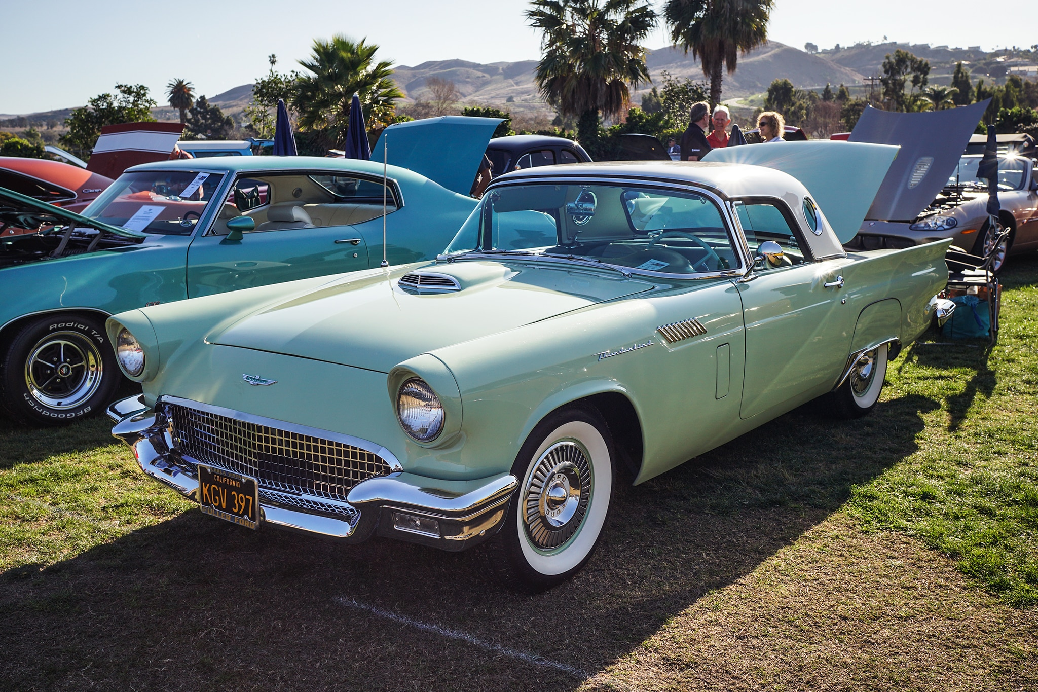 Six Cool Cars We Spotted At The 2018 San Juan Capistrano Car Show 1957 Chevy Bel Air Convertible Lowrider Ford Thunderbird