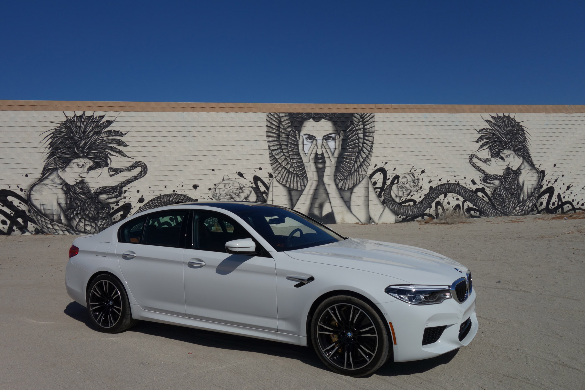2018 BMW Group Test Fest M5 Sedan Mural By Karma