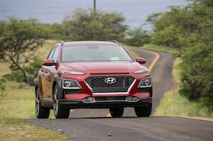 2018 Hyundai Kona Front Three Quarter In Motion 20