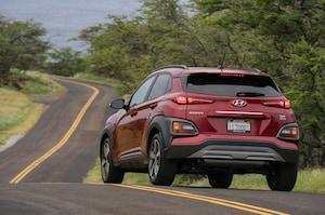 2018 Hyundai Kona Rear Three Quarter In Motion 5