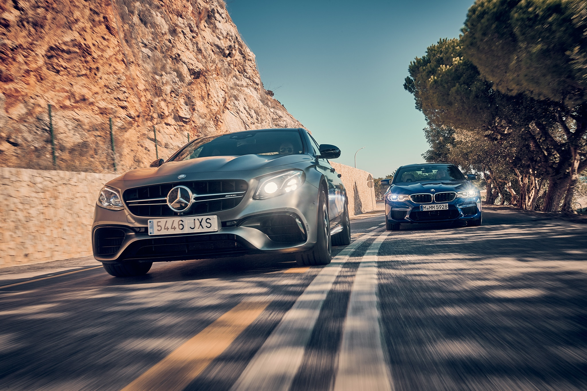2018 Mercedes Benz E63 S And BMW M5 09 1