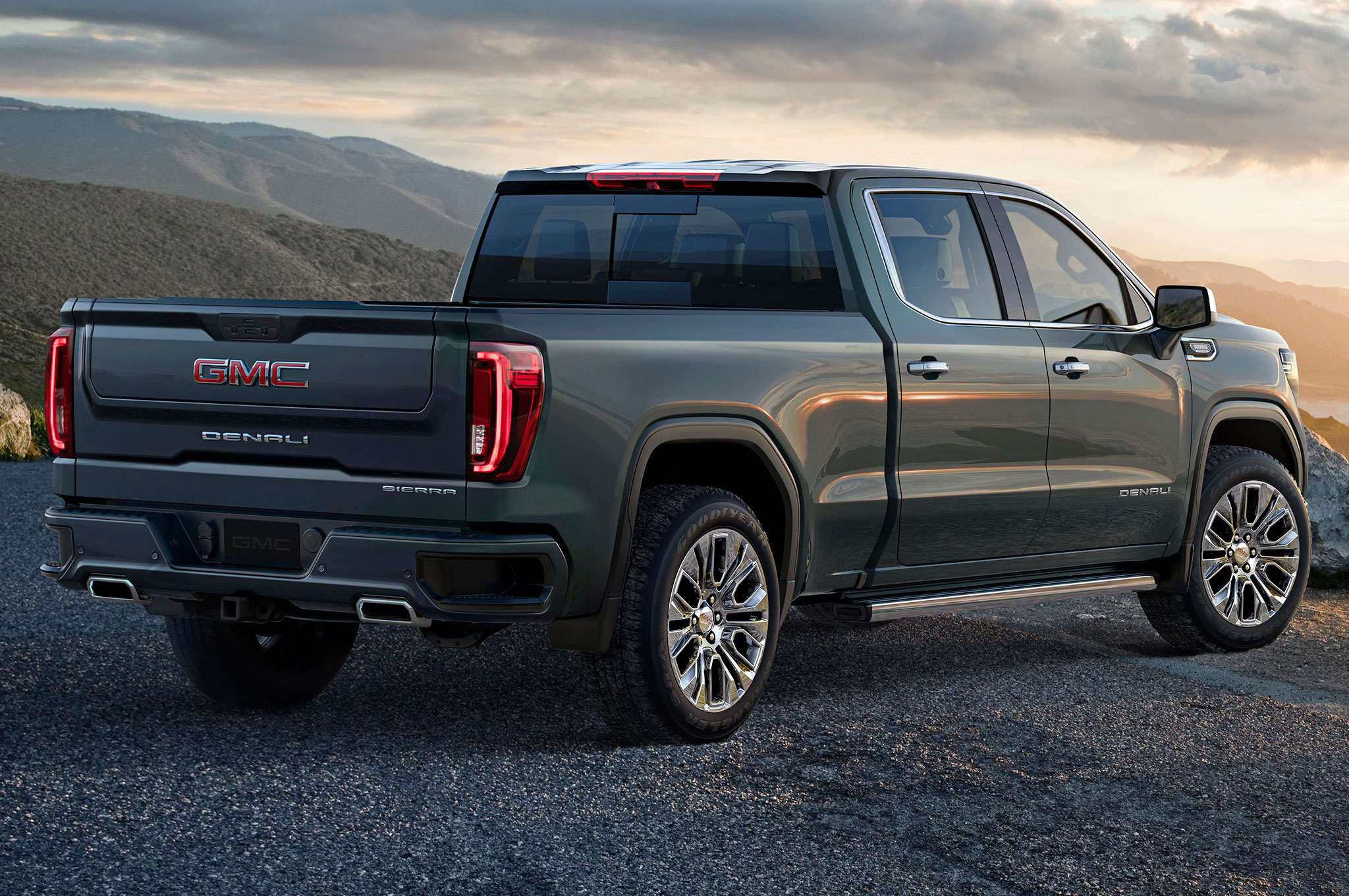 2019 GMC Sierra 1500 Denali Rear Side View