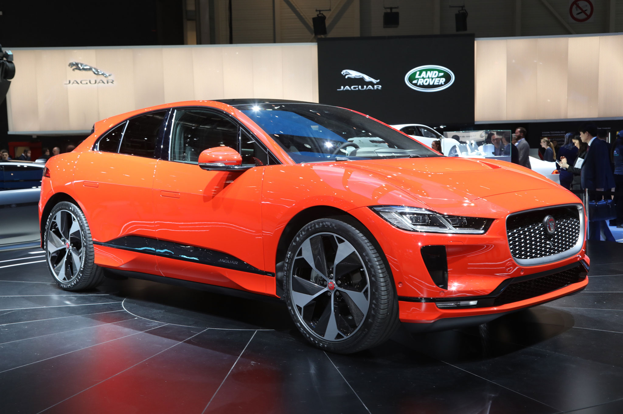 2019 Jaguar I Pace Front Side View On Stage
