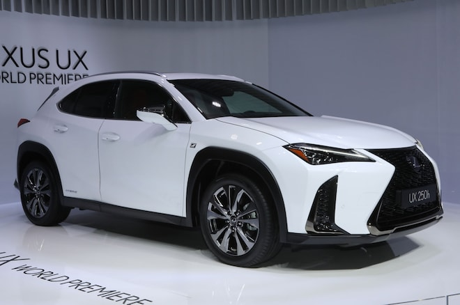 2019 Lexus UX Front Side View On Stage