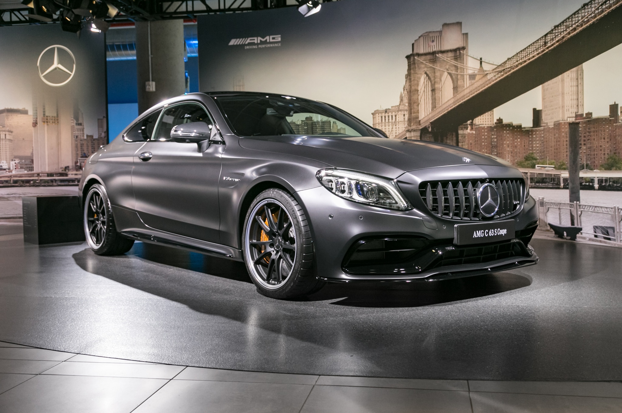 2019 Mercedes AMG C 63 S Coupe Front Three Quarter