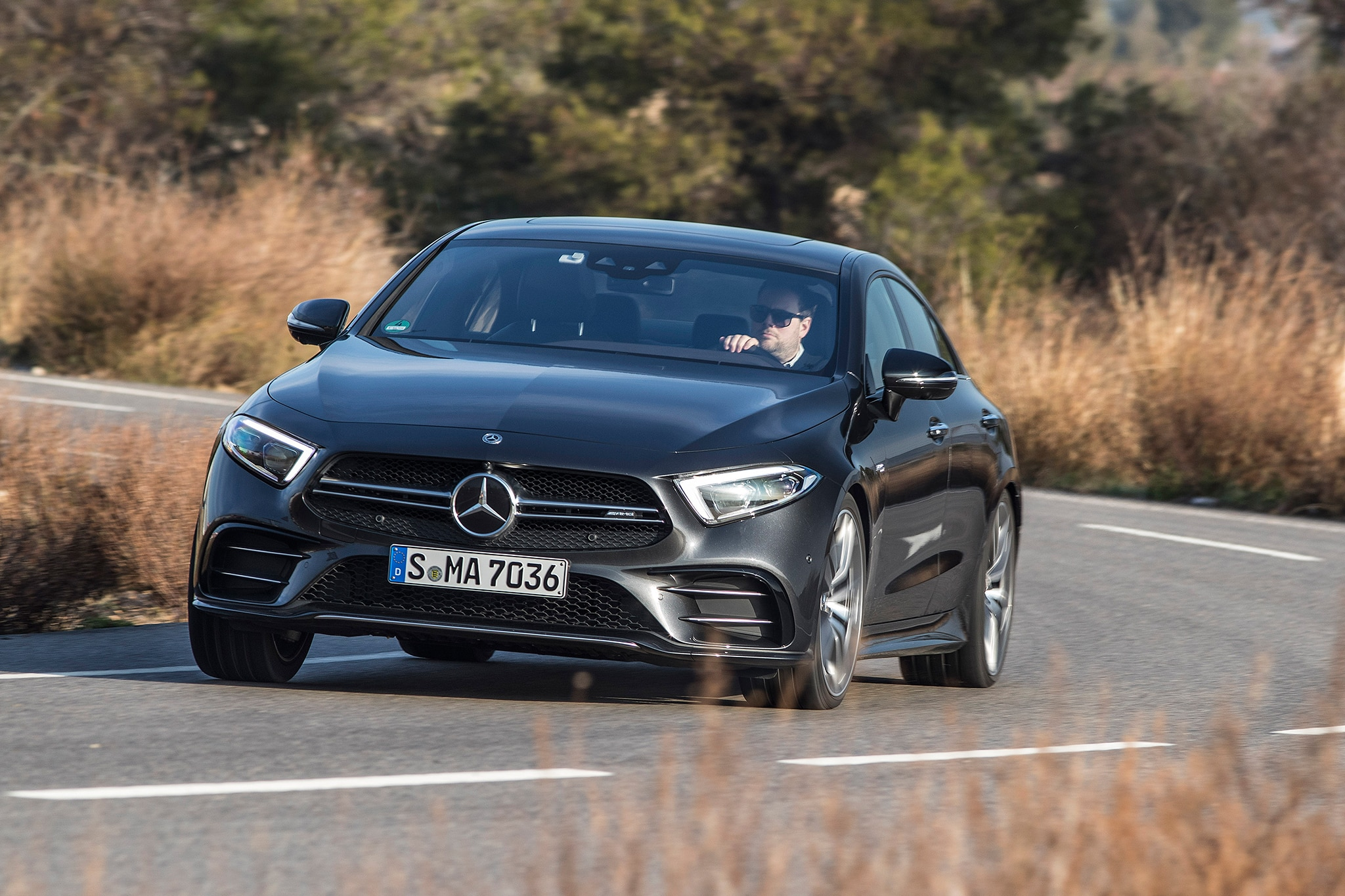 2019 Mercedes AMG CLS53 Front Three Quarter In Motion 06