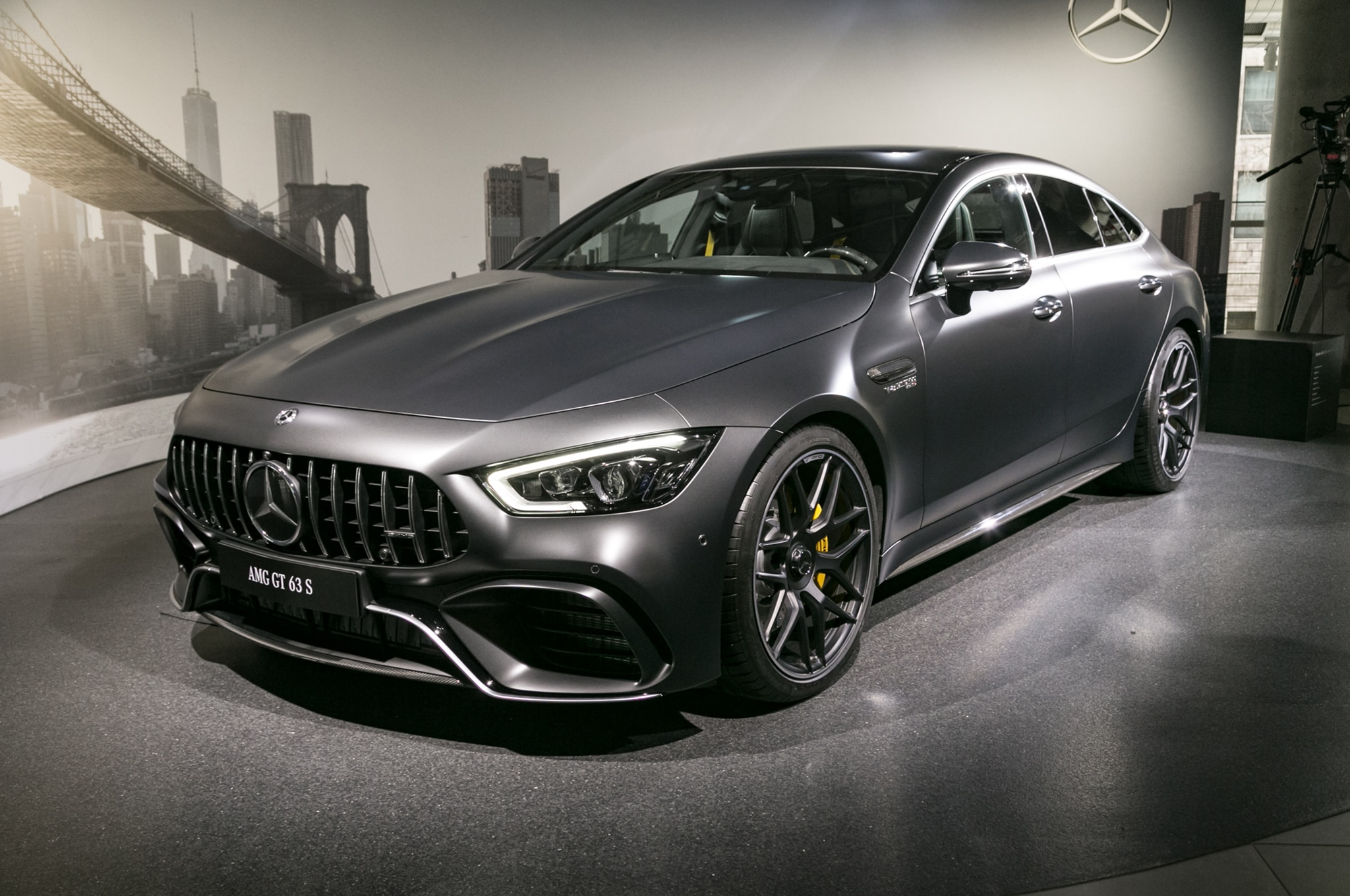 2019 Mercedes AMG GT 63 S 4 Door Coupe Front Three Quarter