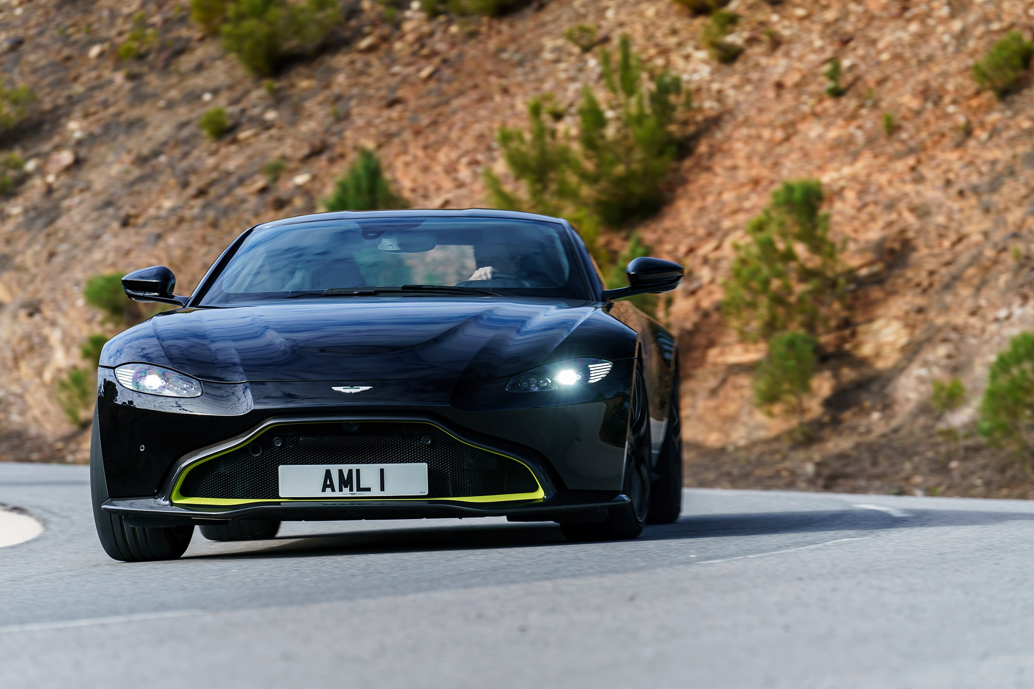 2019 aston martin v8 vantage first drive review automobile magazine. Black Bedroom Furniture Sets. Home Design Ideas