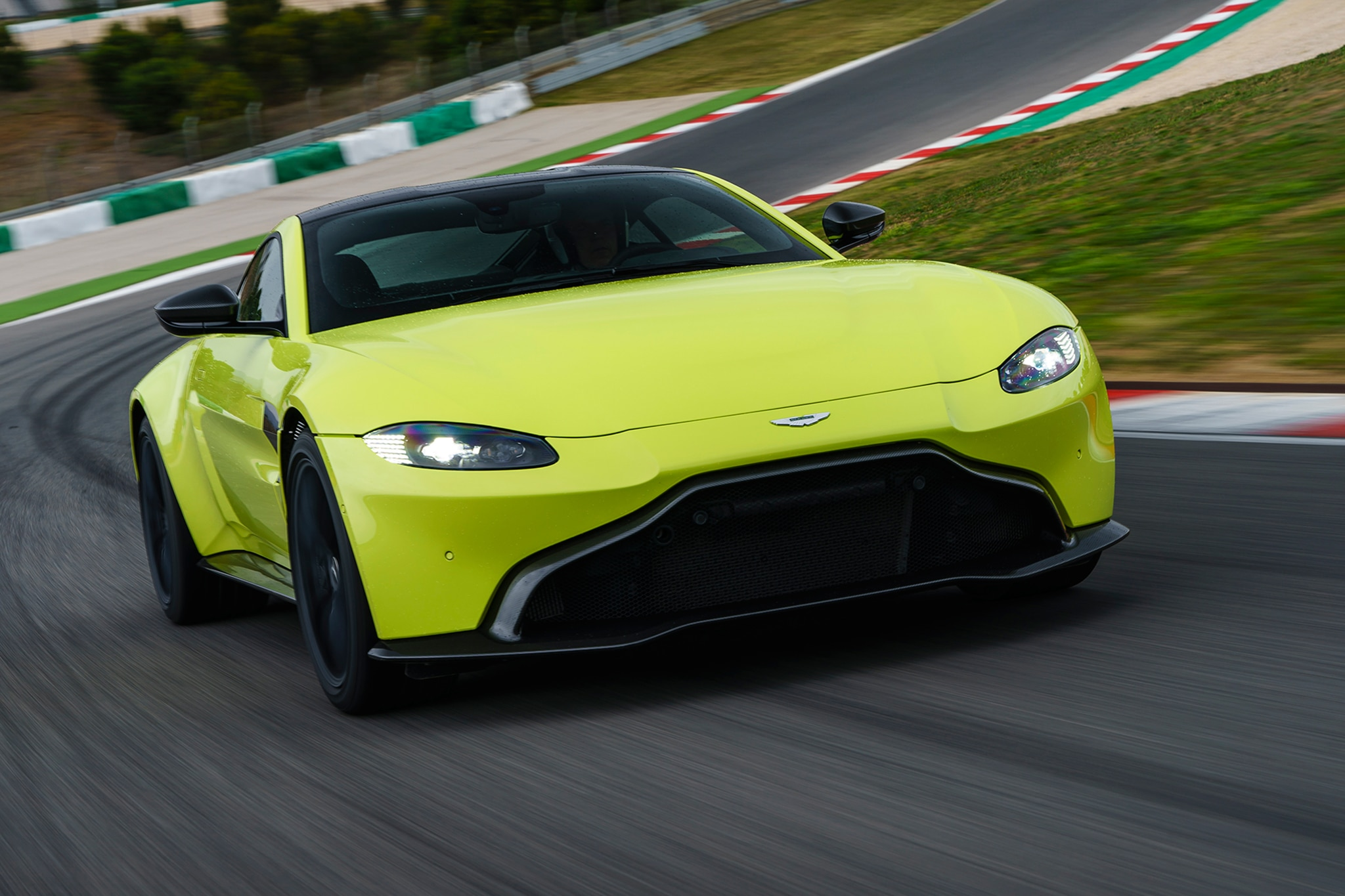 2019 Aston Martin V8 Vantage Front Three Quarter In Motion 14