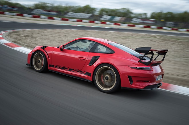 2019 Porsche 911 GT3 RS Rear Side In Motion 03