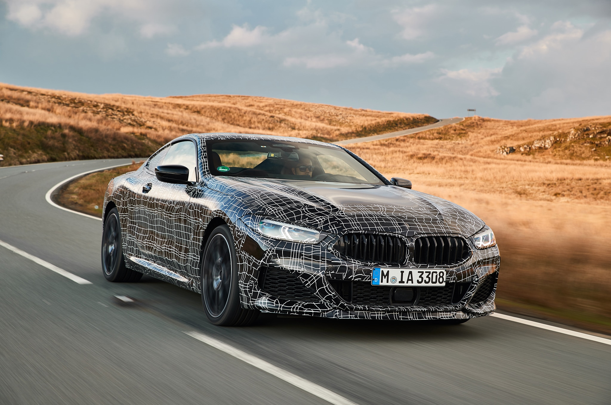 BMW M850i Coupe Prototype Front Three Quarter In Motion 07