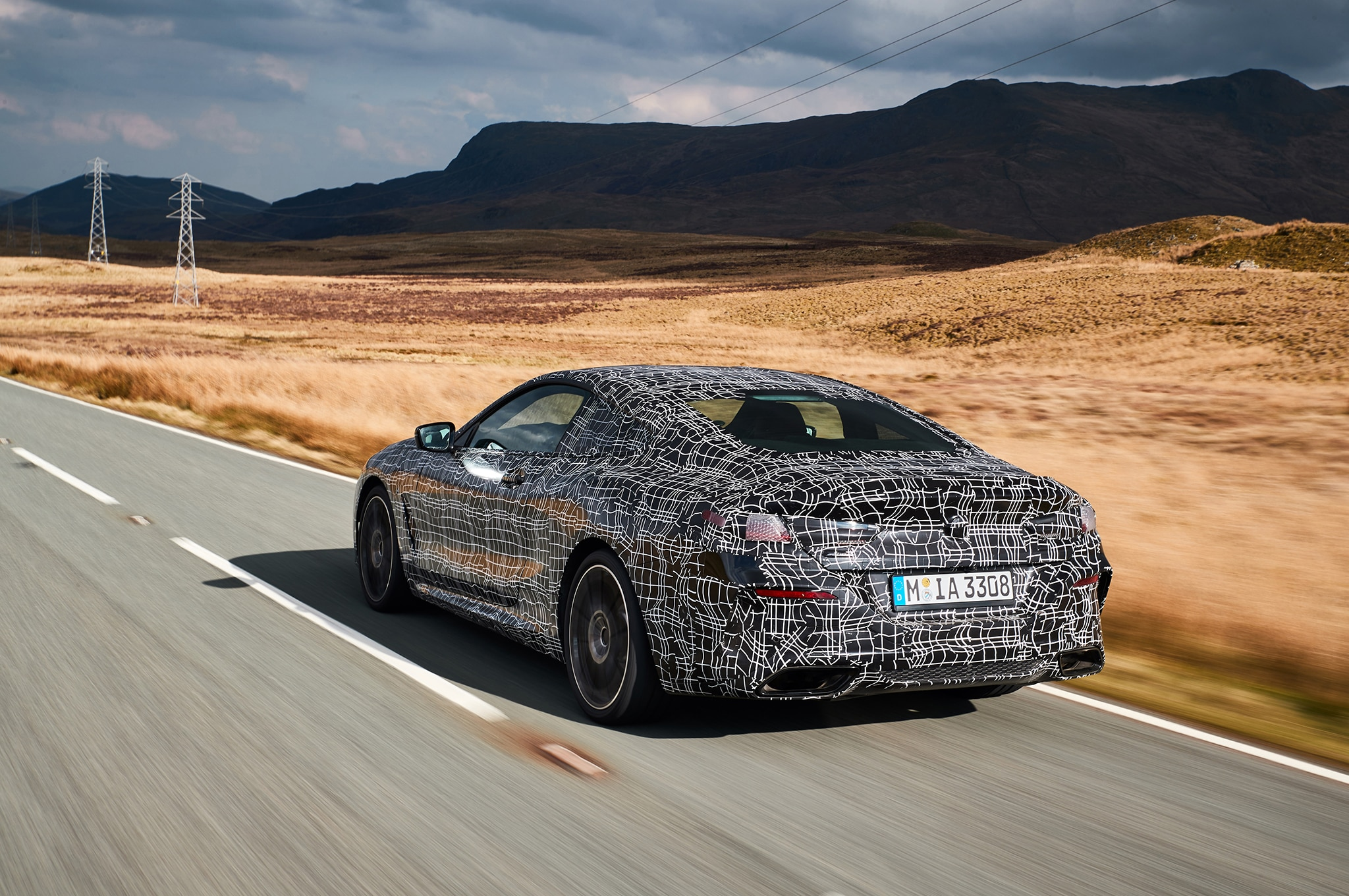 BMW M850i Coupe Prototype Rear Three Quarter In Motion 04