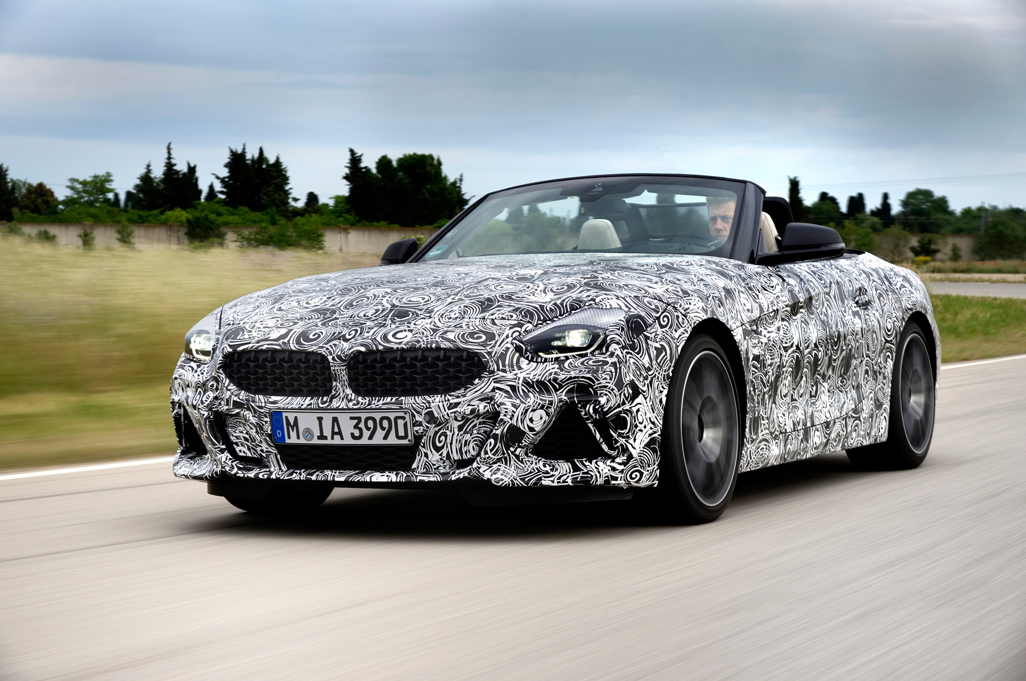 2019 BMW Z4 M40i Prototype Front Three Quarter In Motion 14