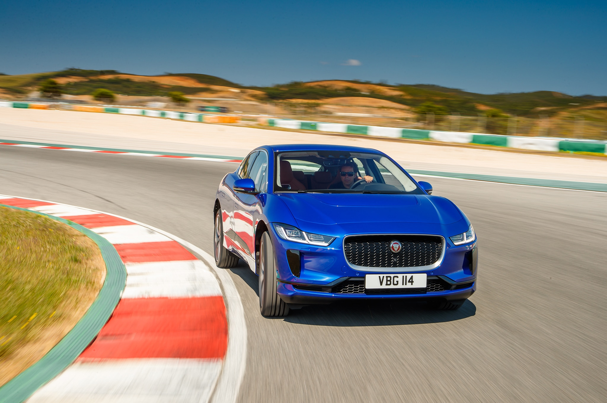 2019 Jaguar I Pace Front Three Quarter In Motion 17
