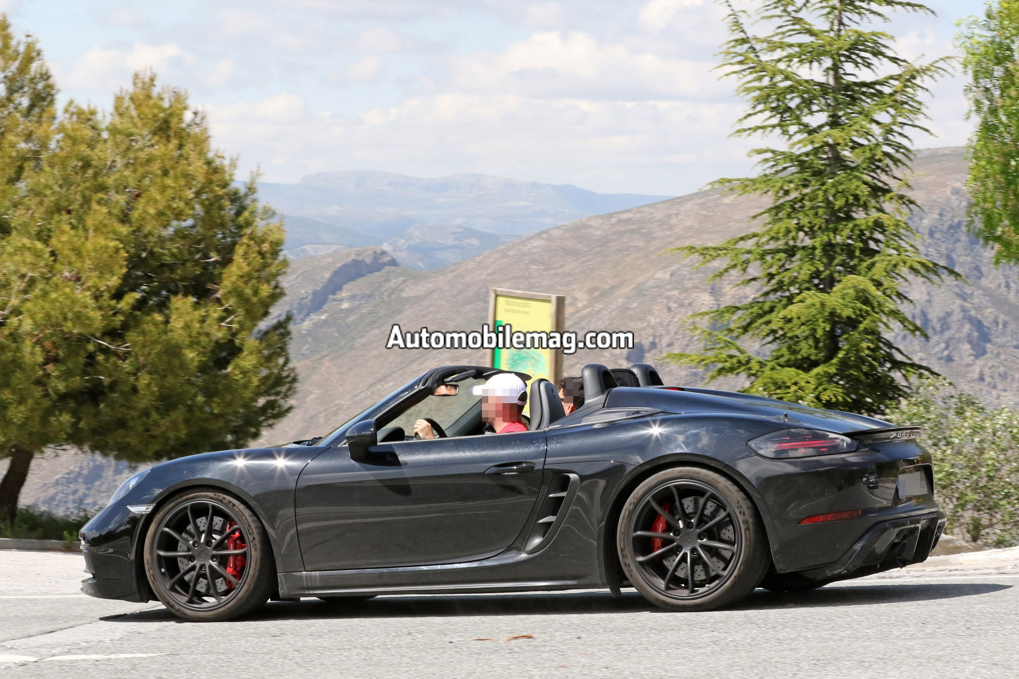 2019 Porsche 718 Boxster Spyder Spied In The Wild Automobile Magazine