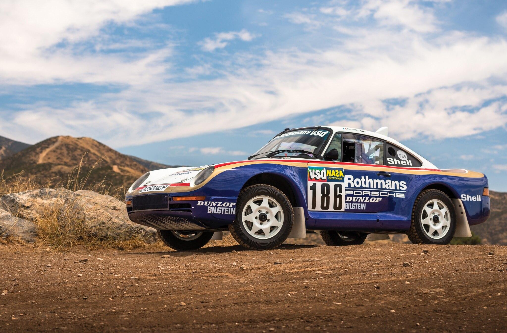 1985 Porsche 959 Paris Dakar Front Three Quarter