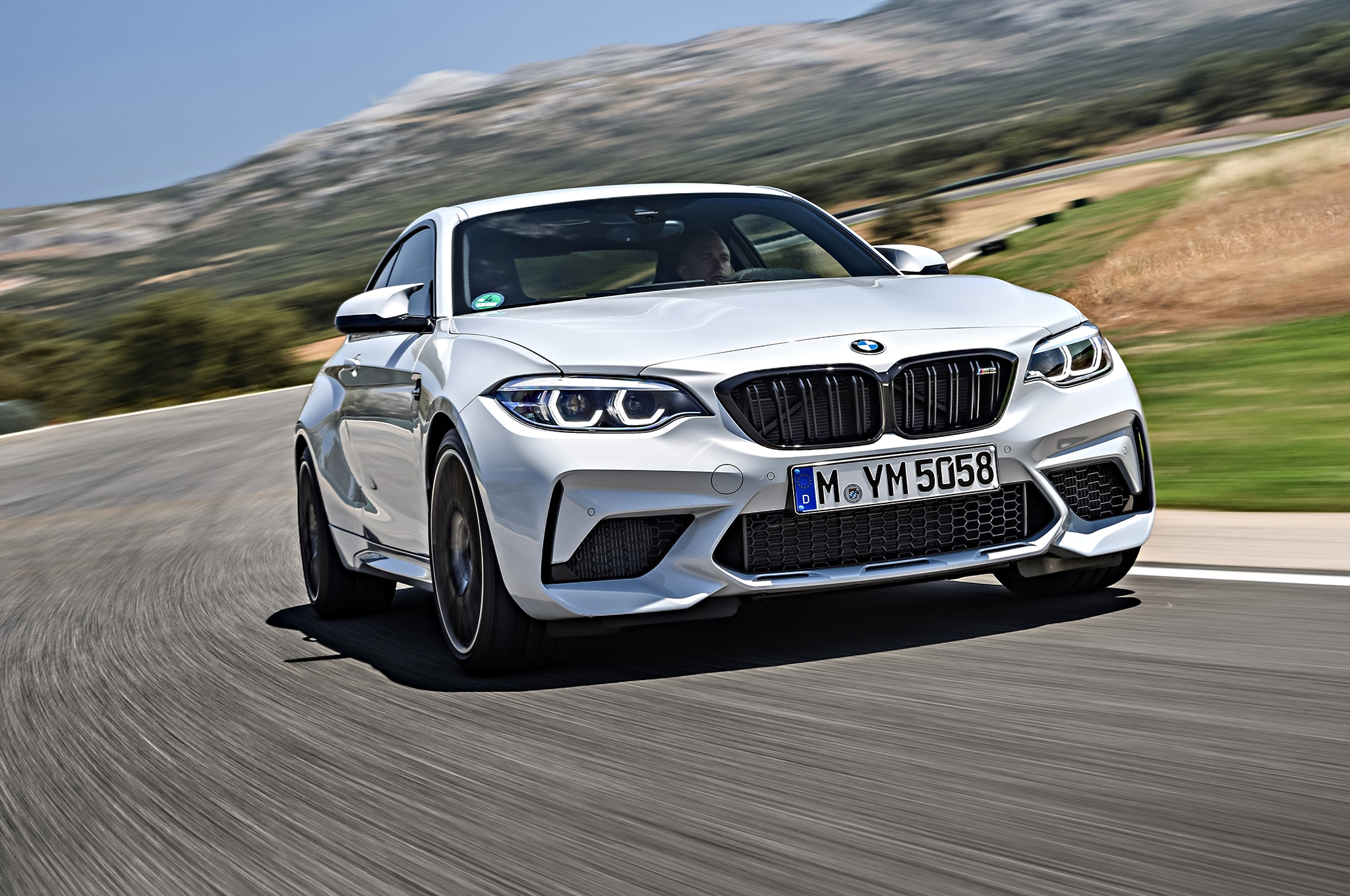 2019 BMW M2 Competition Front Three Quarter In Motion 8