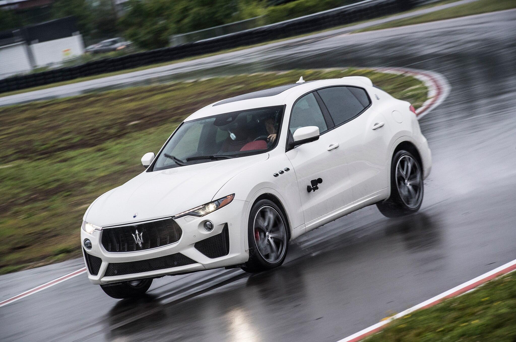 2019 Maserati Levante GTS Front Three Quarter In Motion 03