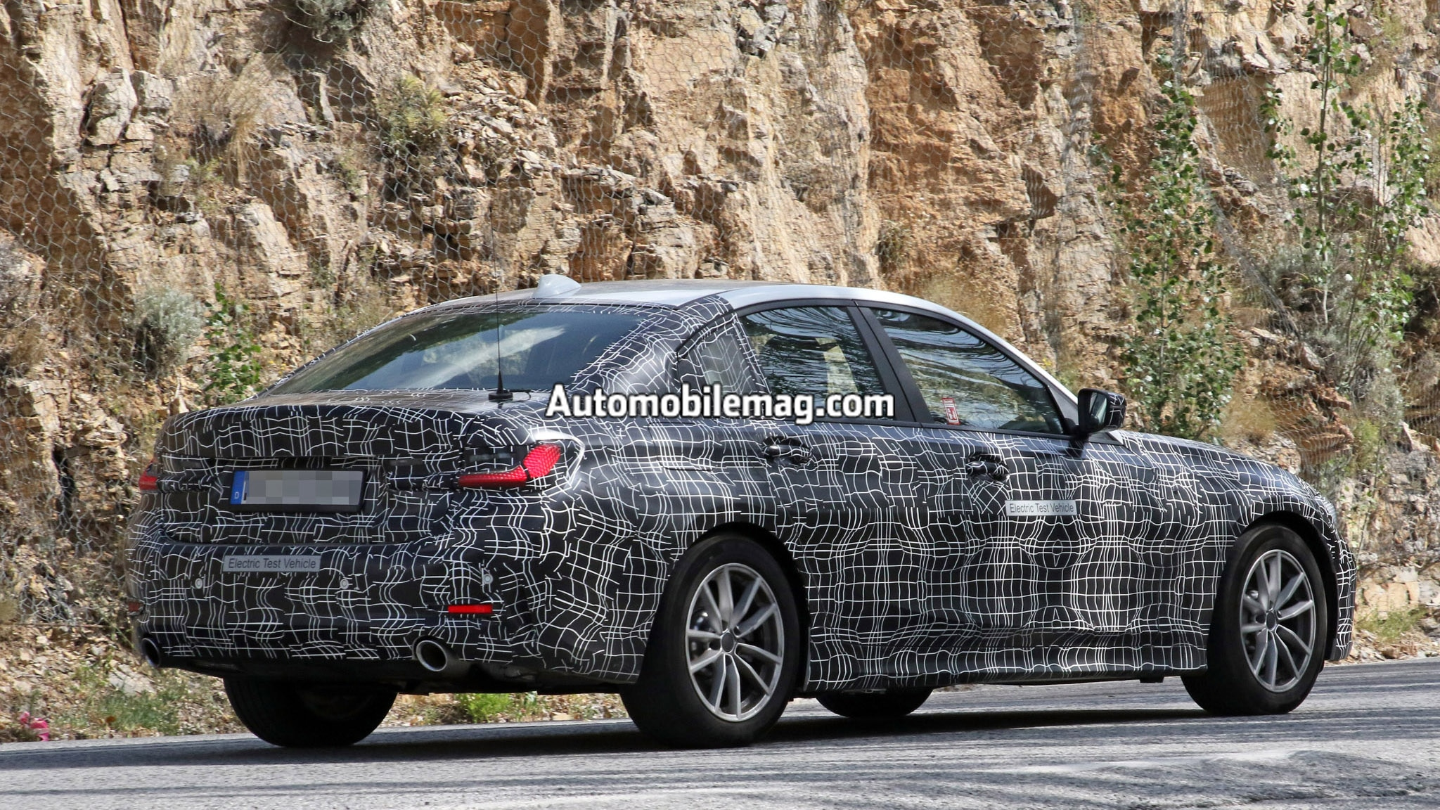 Electric Bmw 3 Series Silently Spied Testing With A Tesla Model 3