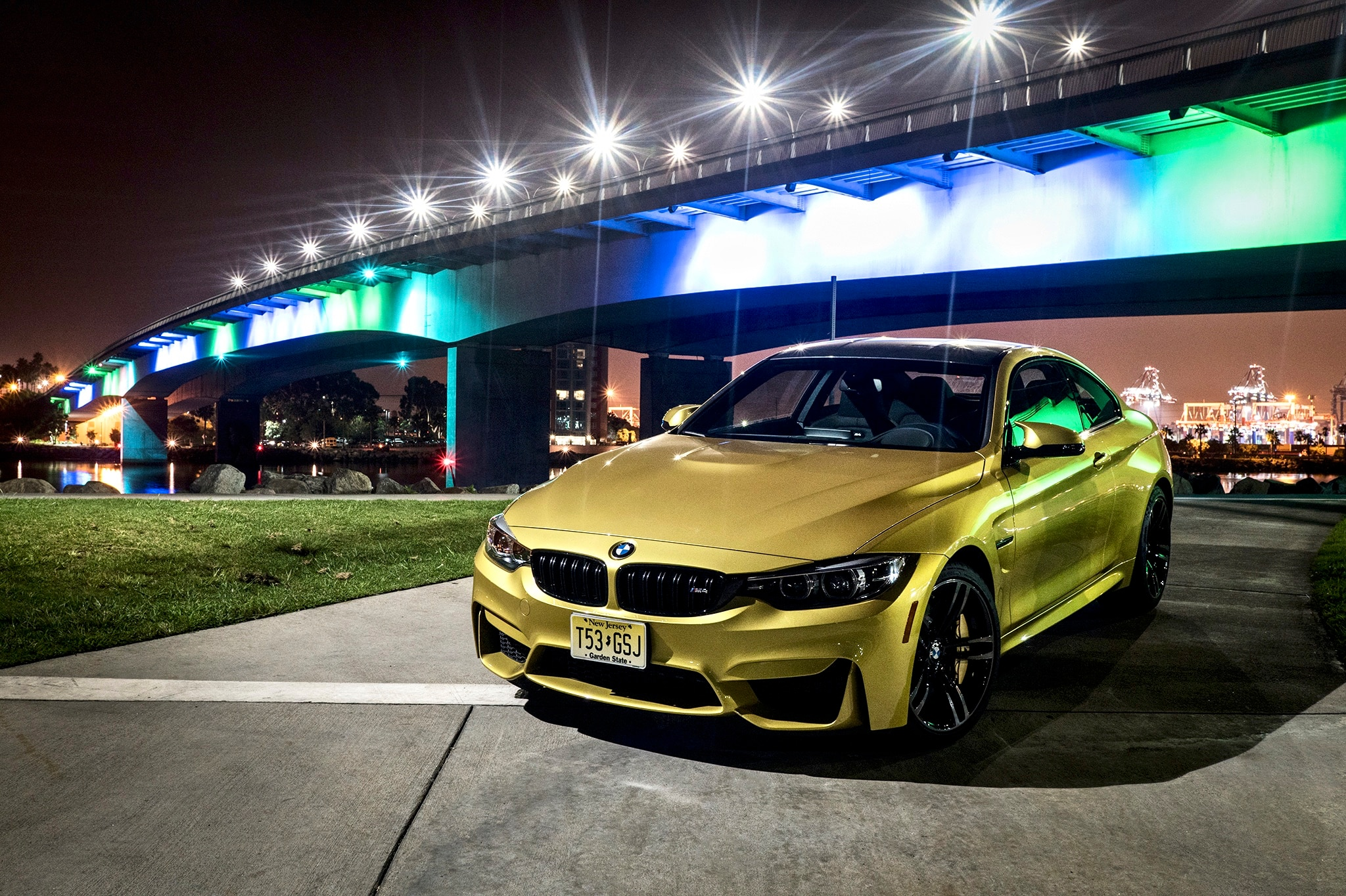 bmw m4  bmw m4 interior night